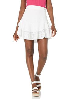 GUESS Women's Tatiana Embroidered Mini Skirt