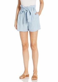 GUESS Women's Tencel Paperbag Waist Short