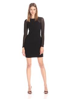 GUESS Women's Textured Detail Long Sleeve Dress