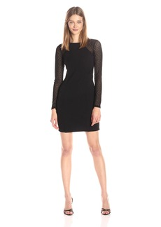 GUESS Women's Textured Detail Long Sleeve Dress