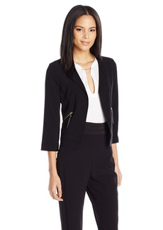 Guess Women's Three-Quarter leeve Cropped Casey Jacket  mall