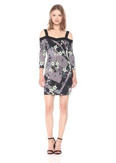 GUESS Women's Three Quarter Sleeve Off The Shoulder Juliet Dress  L