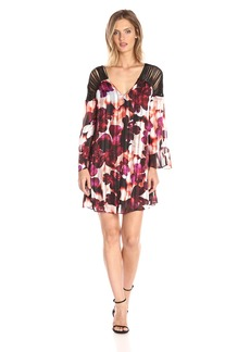 GUESS Women's Three-Quarter Sleeve Printed Bellissa Strappy Dress