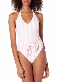 GUESS Women's TIE Front Onepiece Swim Suit  L