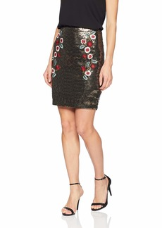 GUESS Women's Topeka Sequin Skirt  XL