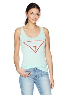 GUESS Women's Triangle Logo Tank Top  M