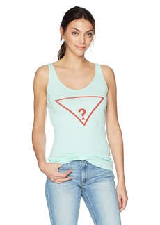 GUESS Women's Triangle Logo Tank Top  XL
