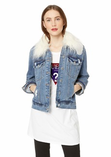 GUESS Women's Warp Stretch 90s Icon Jacket Calista wash XL