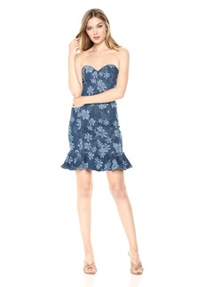 Guess Women's Wedgewood Bustier Dress Dress -wedgewood wash XL