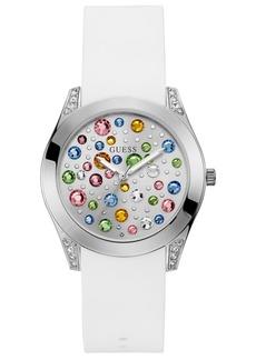 Guess Women's Wonderlust White Silicone Strap Watch 39mm