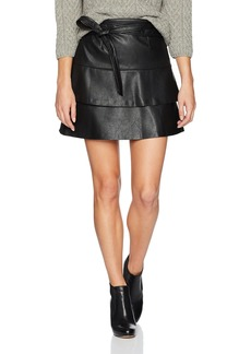 GUESS Women's Wynn Pu Skirt  a