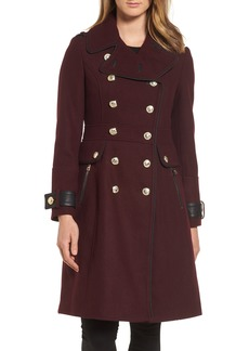 GUESS Wool Blend Military Coat