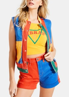 Guess x J Balvin Colorblocked Denim Vest