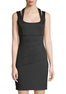 GUESS Halter-Neck Mini Sheath Dress