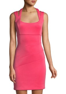 GUESS Halter-Neck Mini Sheath Dress