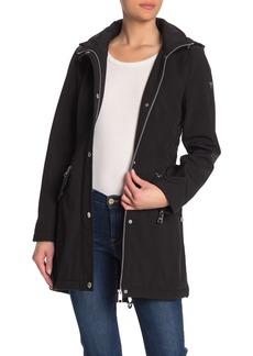 GUESS Hooded Fleece Lined Rain Jacket
