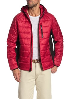 GUESS Hooded Zip Front Puffer Jacket