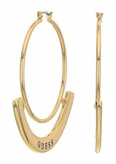 GUESS Hoop with PU Detailing Earrings
