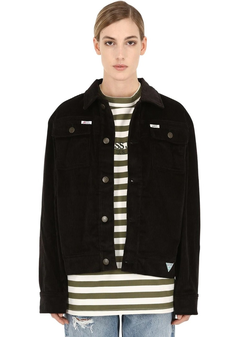 GUESS Ia Ls Cotton Corduroy Worker Jacket