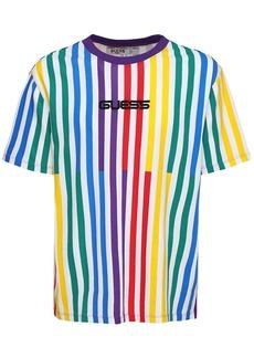 GUESS J Balvin Stripe Motif Cotton T-shirt