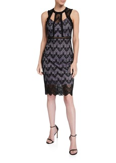 GUESS Lace Cutout Scallop Dress