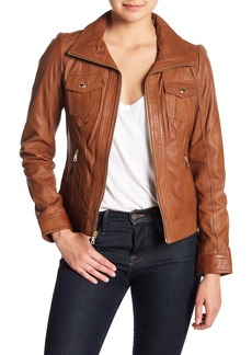 GUESS Lamb Leather Jacket