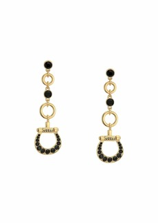 GUESS Linear Equestrian Drop Earrings