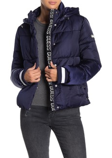 GUESS Logo Quilted Puffer Jacket