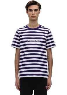 GUESS Logo Striped Cotton Jersey T-shirt
