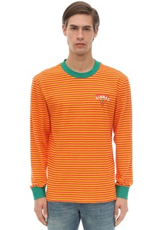 GUESS Long Sleeve Stripe Cotton Jersey T-shirt