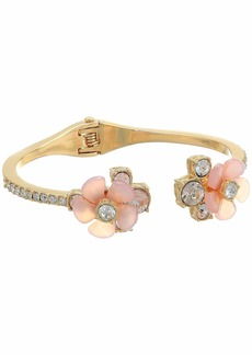 GUESS Lucite Floral Ends Hinge Cuff
