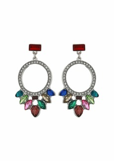GUESS Multicolored Stone Drop Earrings