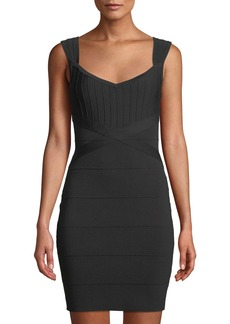 GUESS Paneled Bandage Body-Con Dress