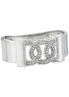 GUESS Pave Frozen Link Hinge Bangle Bracelet