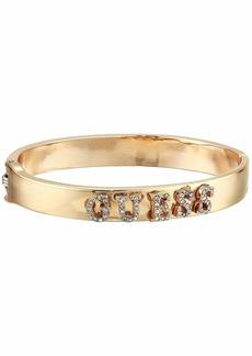 GUESS Pave Logo Hinge Bangle Bracelet