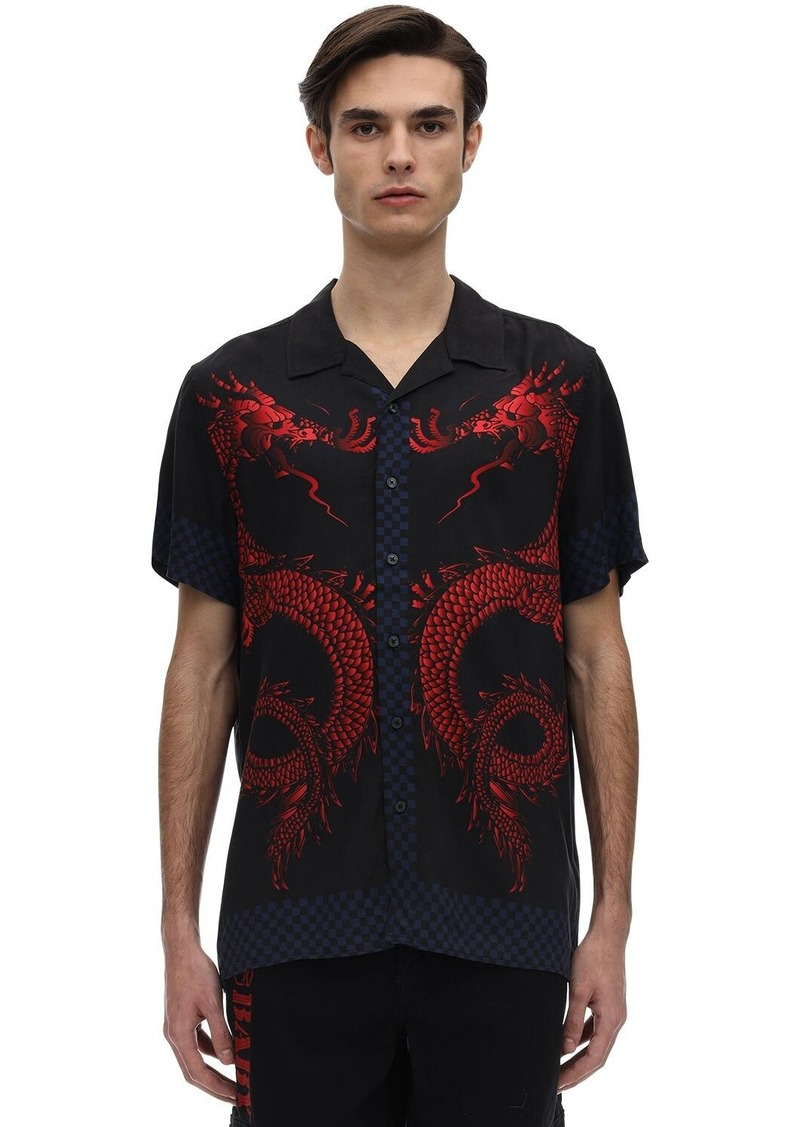 GUESS Pleasures Racing Printed Rayon T-shirt