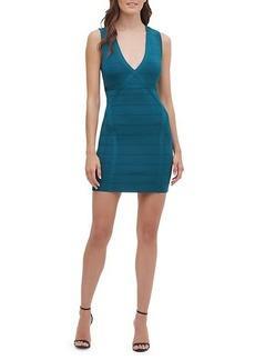 GUESS Plunging Neckline Mini Dress
