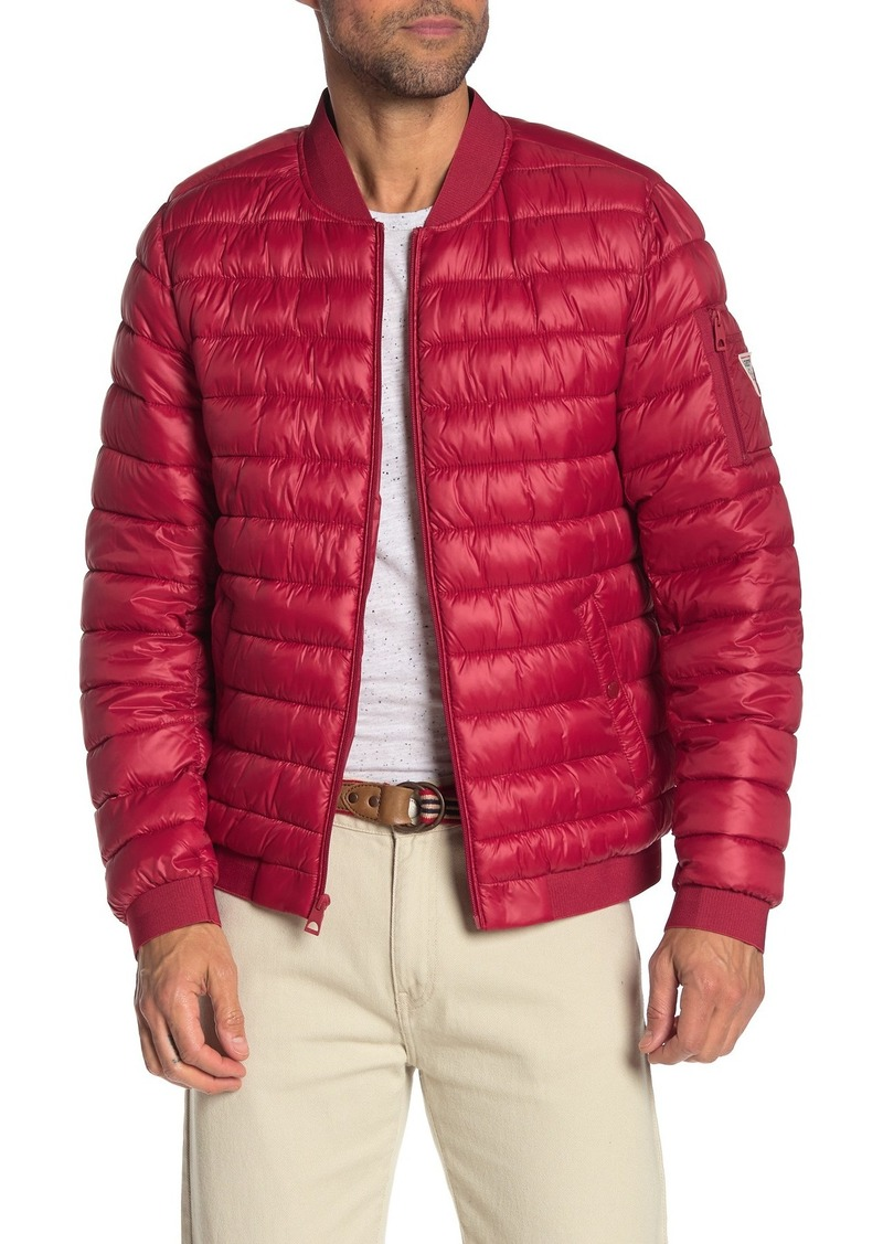 GUESS Quilted Zip Front Puffer Jacket