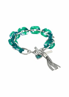 GUESS Resin Link Toggle Bracelet with Tassel