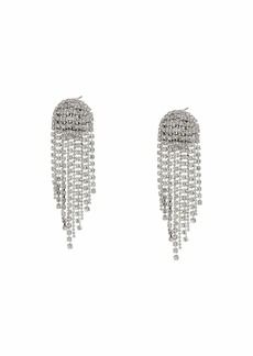 GUESS Rhinestone Ball Chain Earrings