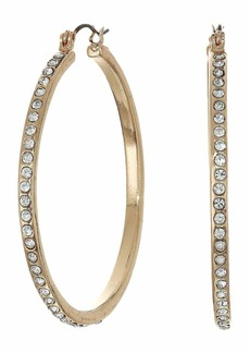 GUESS Rhinestone Hoop Earrings