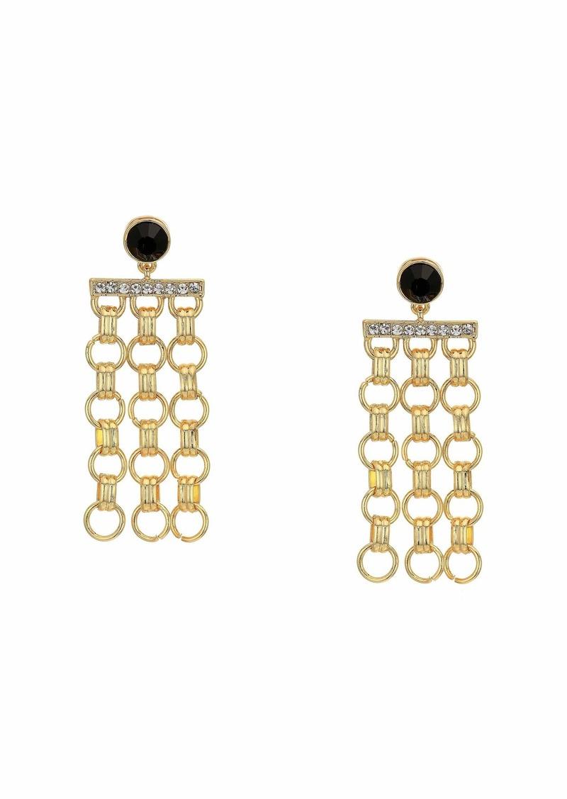 GUESS Rolo Chain Drop Earrings