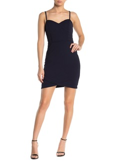GUESS Seamed Solid Mini Dress