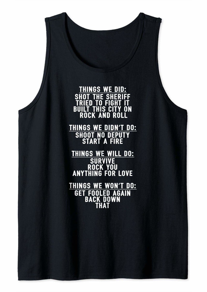 Song Lyric Shirts For Women Men Funny Guessing Music Hits Tank Top