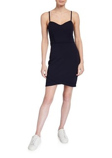 GUESS Sweetheart Spaghetti-Strap Scuba Crepe Sheath Dress