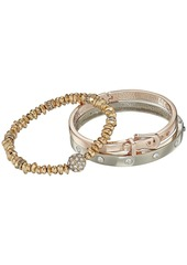 GUESS Three-Piece Bracelet Set - Two Hinge Bangles and One Stretch