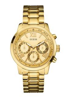 GUESS Women's Gold-Tone Multi-function Watch 42mm