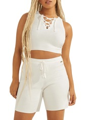 GUESS Crop Lace-Up Tank