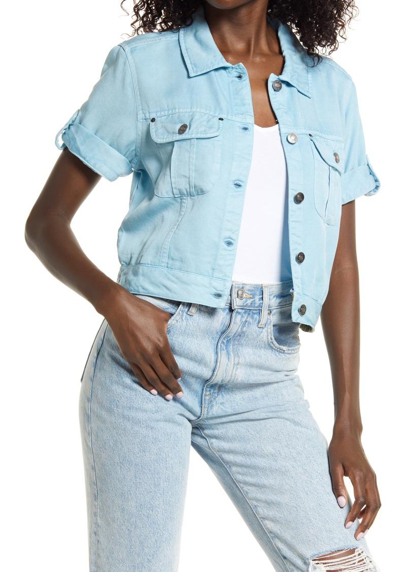 Women's Guess Short Sleeve Denim Shirt Jacket