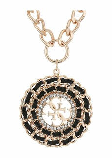 GUESS Woven Disc Logo Pendant Necklace